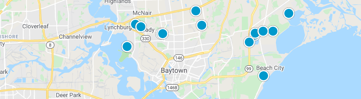 Search By Map : Baytown Texas Homes For Sale