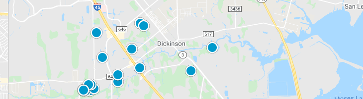 Search By Map : Dickinson Texas Homes For Sale