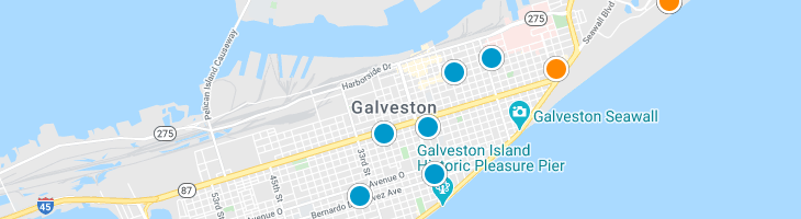Search By Map : Galveston Texas Homes For Sale