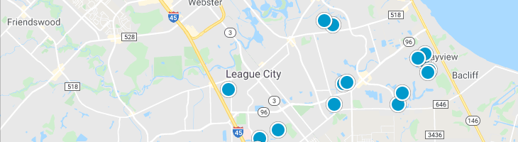Search By Map : League City Texas Homes For Sale