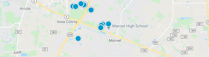 Search By Map : Manvel Texas Homes For Sale