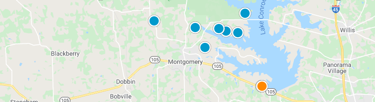 Search By Map : Montgomery Texas Homes For Sale