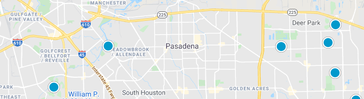 Search By Map : Pasadena Texas Homes For Sale