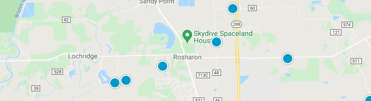Search By Map : Rosharon Texas Homes For Sale