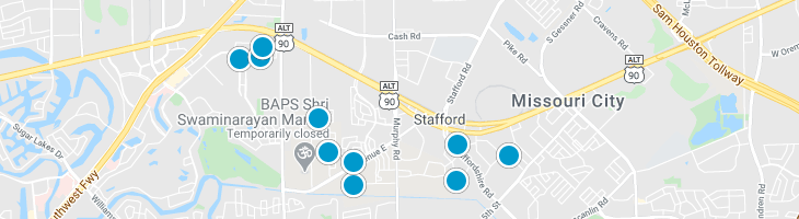 Search By Map : Stafford Texas Homes For Sale