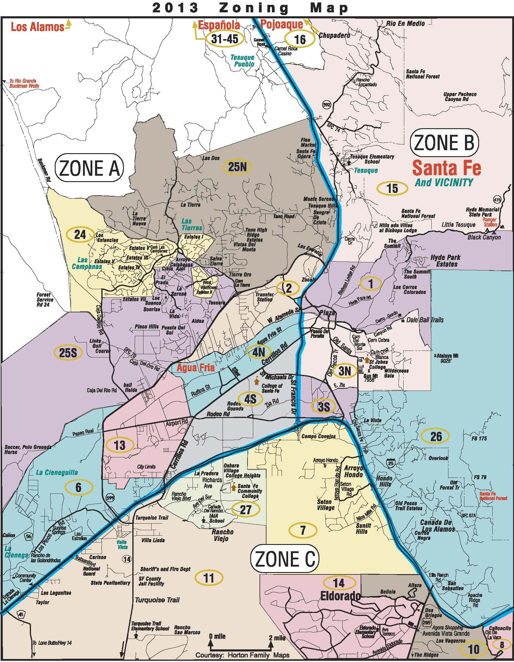 Santa Fe Area Map