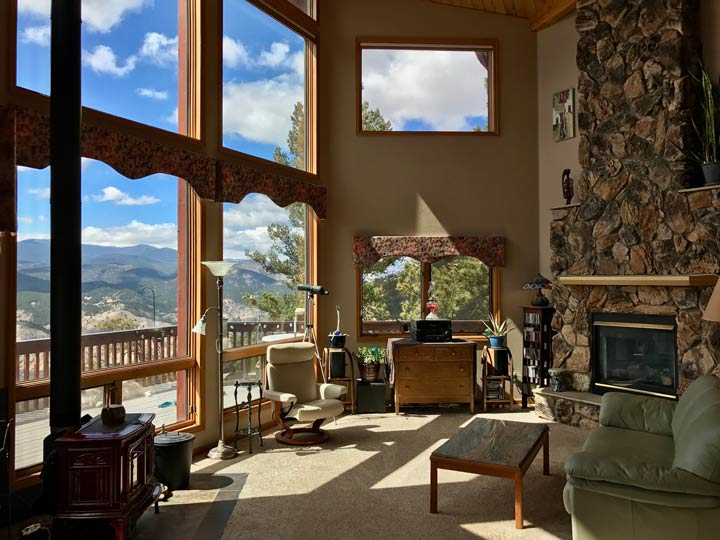 Living Room in mountain home