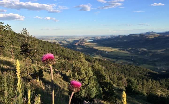 Front range mountain views