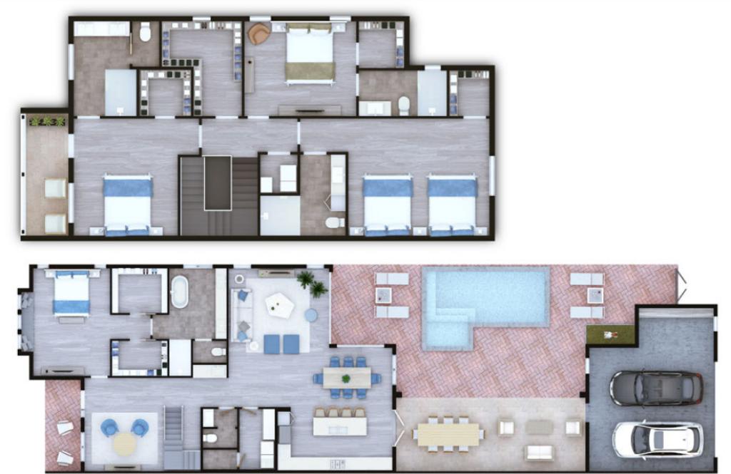 Hobe Sound Courtyards Floor Plan