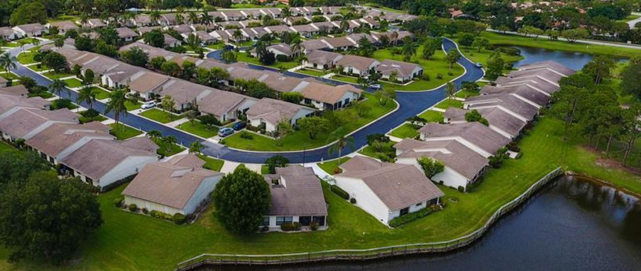 Egret Pond Palm City Aerial View