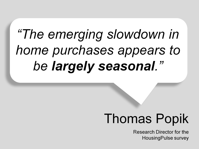 Slowdown in Boise Real Estate Market is Seasonal
