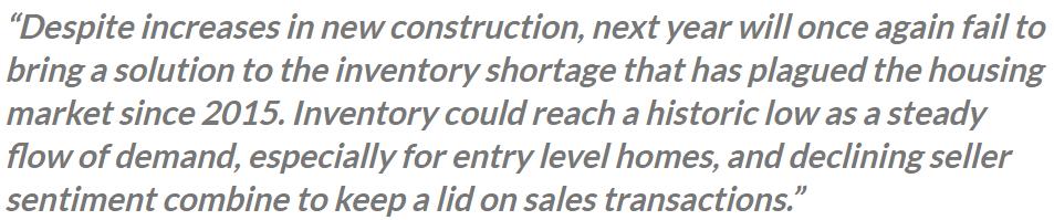 realtor.com housing prediction for 2020