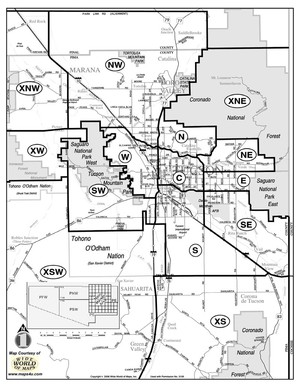 Tucson MLS Boundaries Map