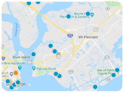 Charleston Area Real Estate Map Search