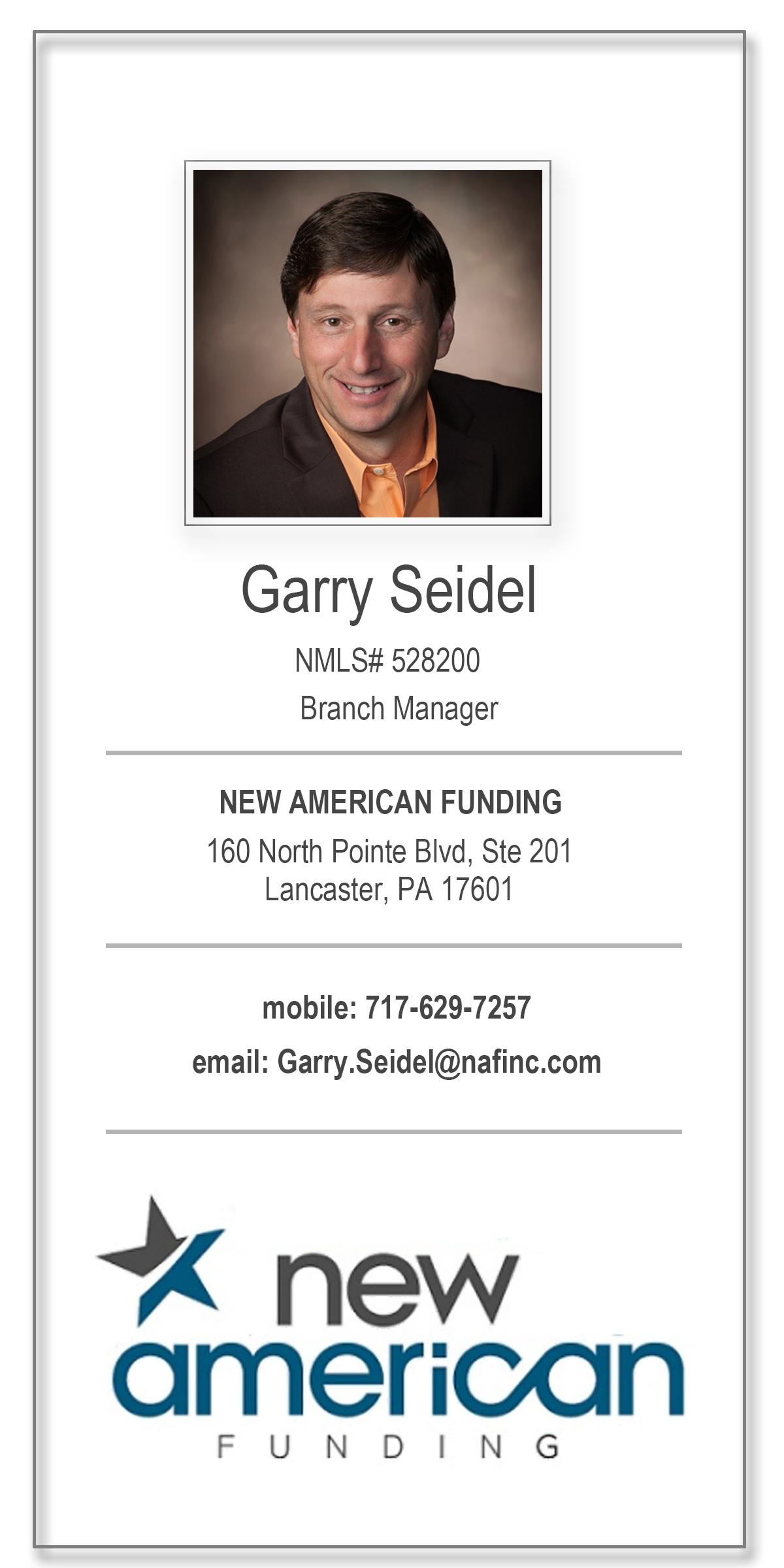 Garry Seidel New American Funding