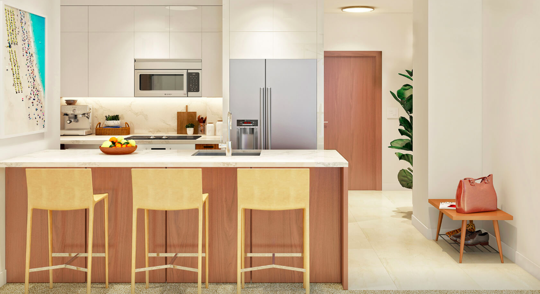 Azure Ala Moana condo kitchen