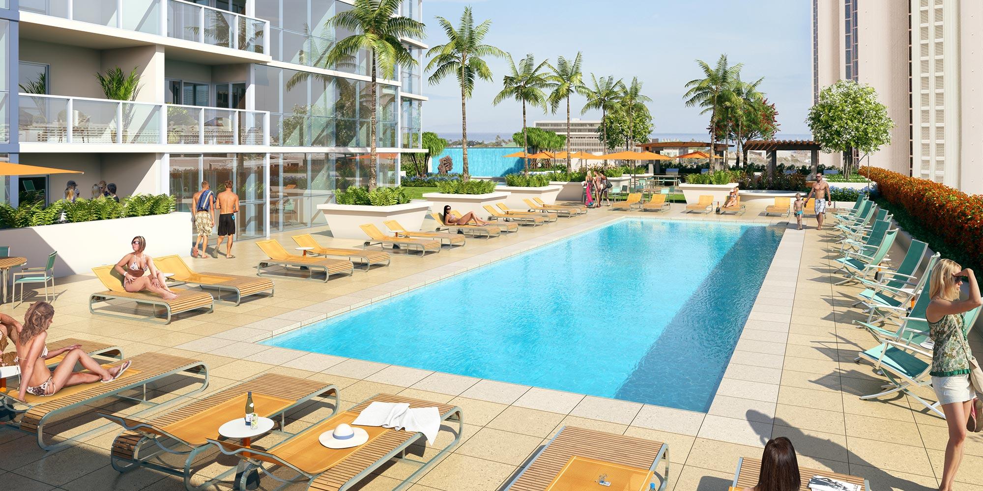 Keauhou Place condo pool