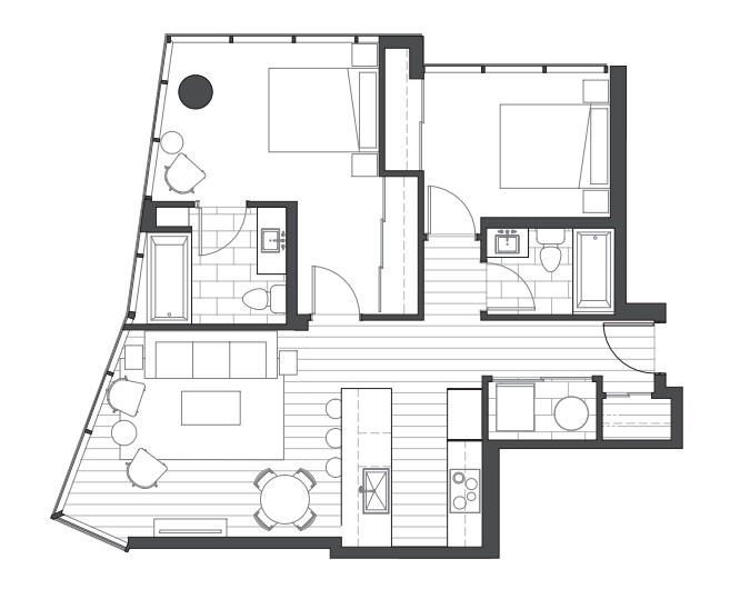 Ae'o 2 bedroom floorplan