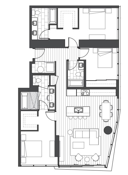 Ae'o 3 bedroom condo floorplan