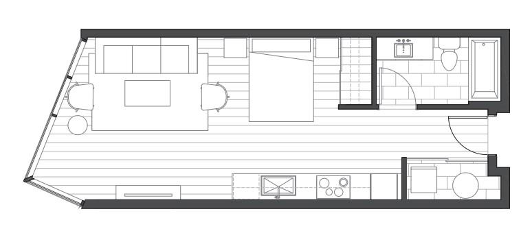 Aeo studio condo floorplan