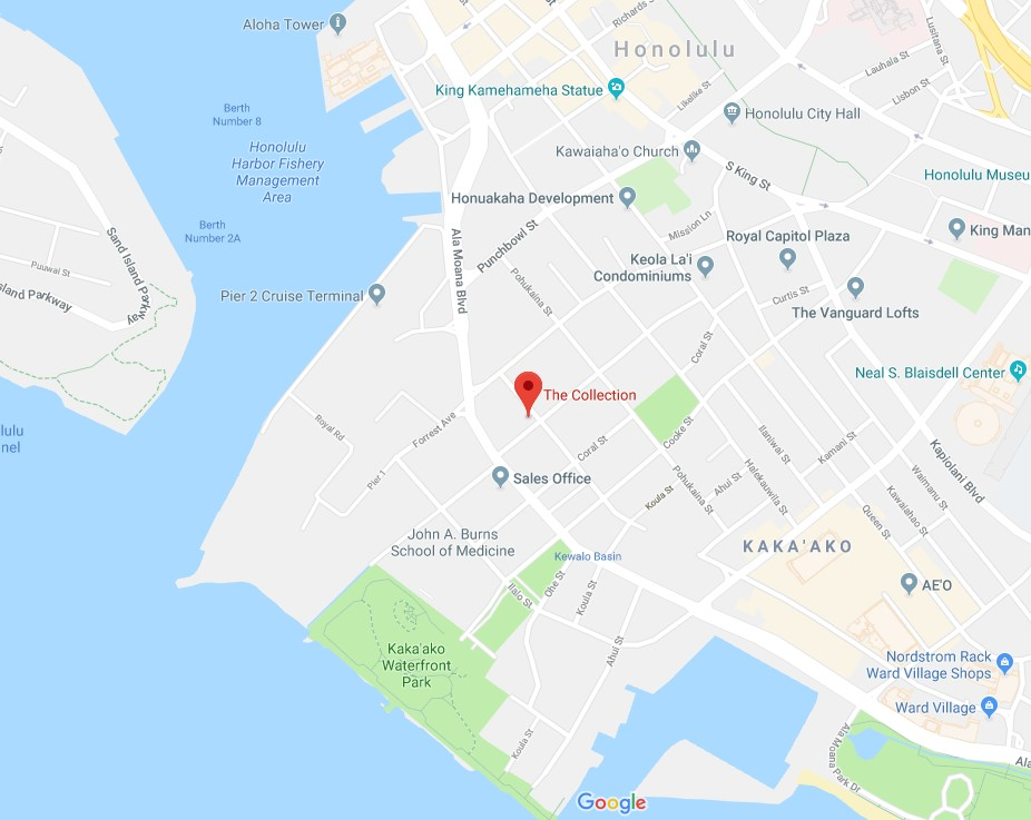 The Collection Honolulu location map