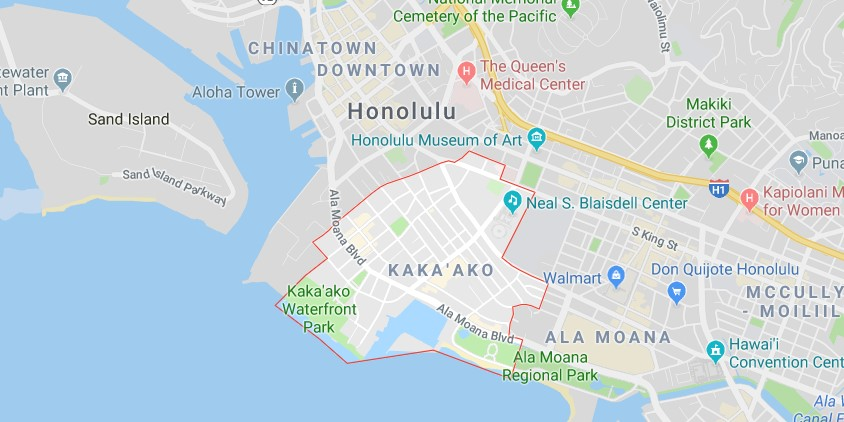 Kakaako neighborrhood map