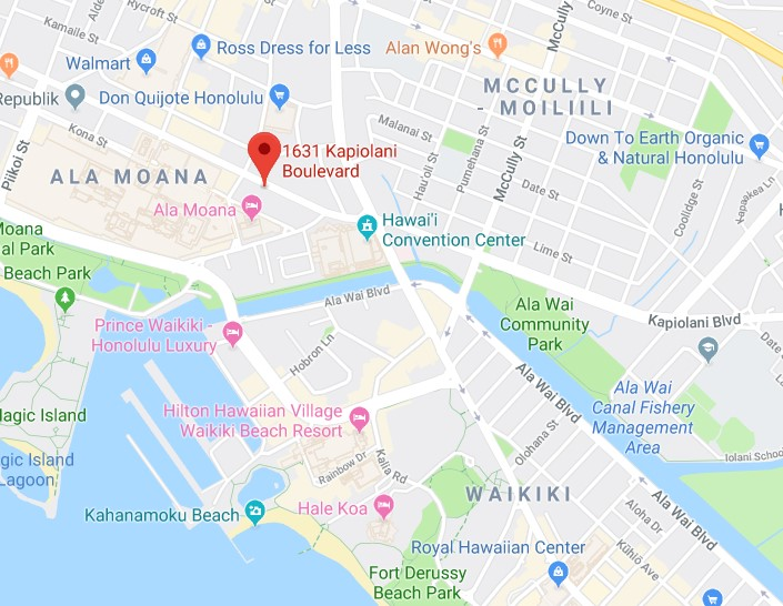 kapiolani residence area map
