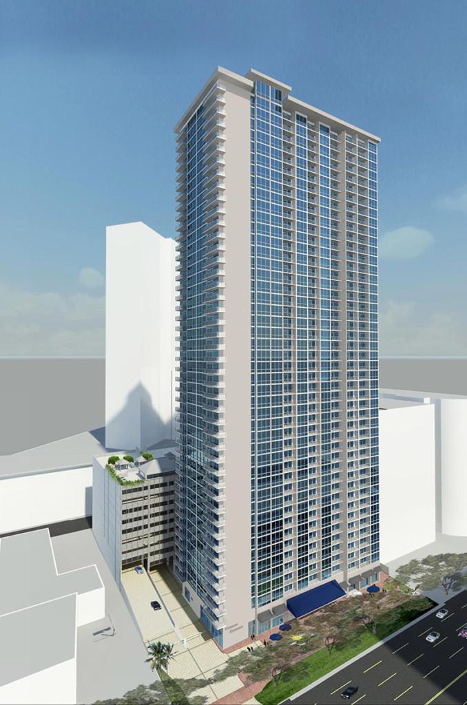 Kapiolani Residence building rendering