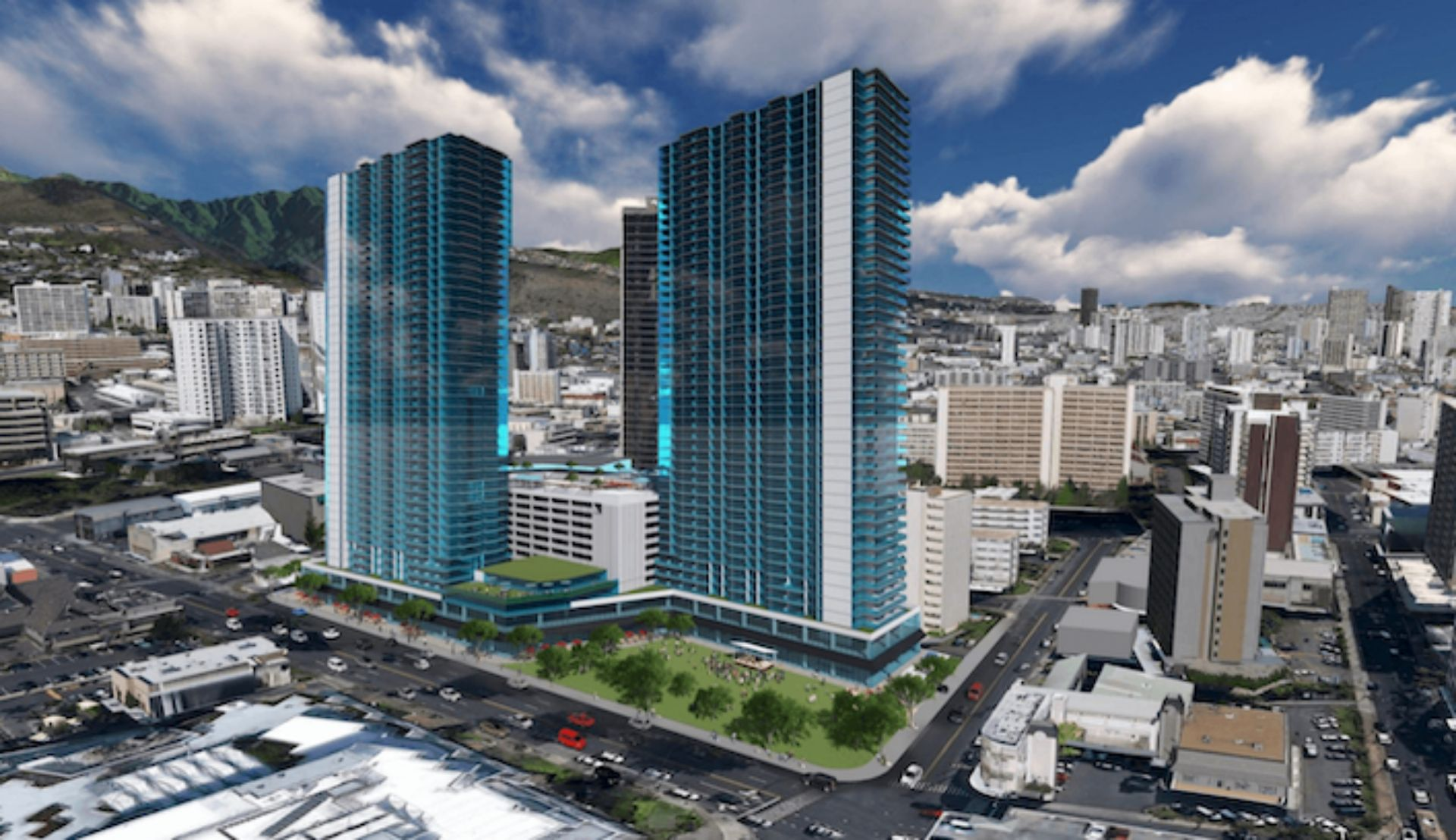 keeaumoku towers artist rendering of proposed condo towers