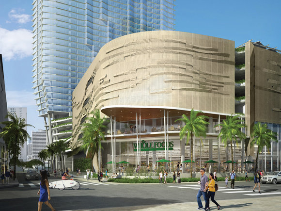 Whole Foods connected to Aeo condo in Kakaako