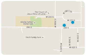 Amelia earhart Elem Homes Map