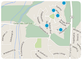 Cedar Hills map