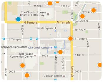 Downtown SLC Map