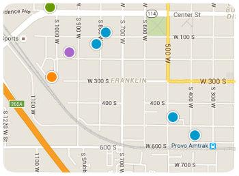 Franklin Elem Homes Map