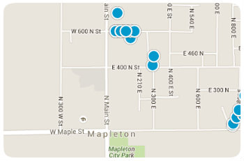 Mapleton Utah mapped homes for Sale