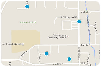 Rock Canyon Elem Homes Map