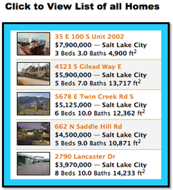 Utah homes search button