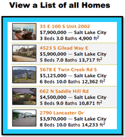 Windsor Park Provo home search button