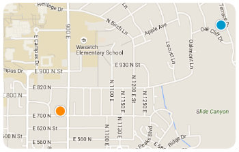 Wasatch Elem Homes Map