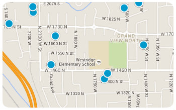 Westridge Elem Homes Map