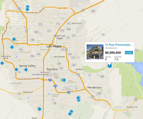Luxury Las Vegas Homes: Las Vegas Interactive Map At Infoasik.co