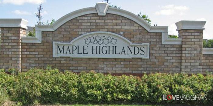 Maple Highlands Entrance