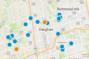 Vaughan Map Search