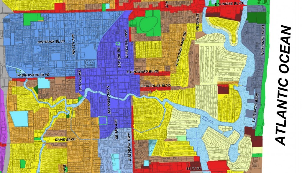 35 map of fort lauderdale neighborhoods - maps database source