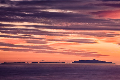 Anacapa Island at Sunset as seen from Grant Park in Ventura