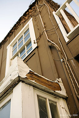 Wood Rot in buildings at Fisherman's Wharf in Oxnard