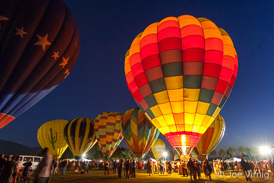 Glowing Balloon at the Citrus Classic Balloon Festival