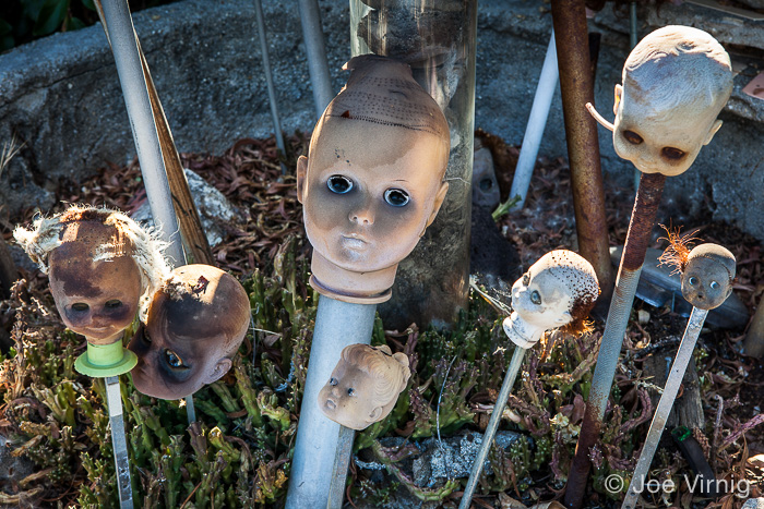 Doll heads on sticks, Grandma Prisbrey's Garden