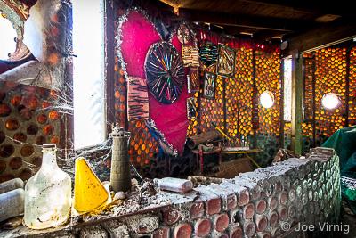 Interior of Round House, Bottle Village