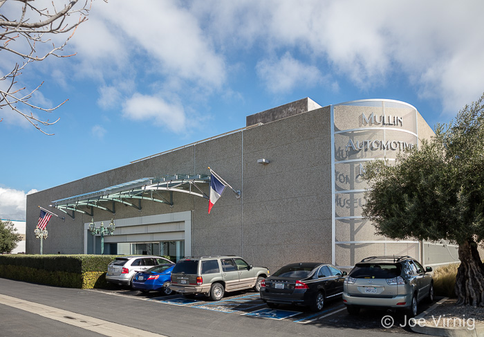 Exterior of the Mullin Automotive Museum in Oxnard